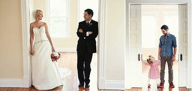 Com a ajuda da filha, pai recria fotos do casamento para homenagear a esposa que já partiu