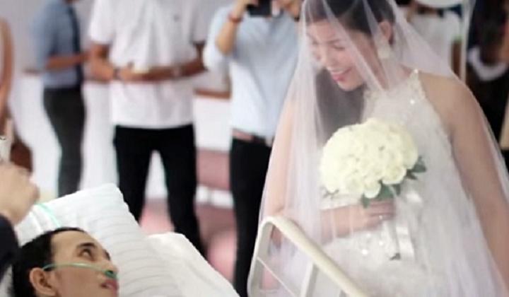 Noivo em estágio terminal morre 10 horas após o casamento