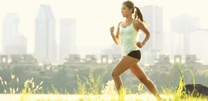 mulher correndo